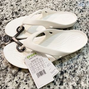 Crocs Kadee 2 Flip Flops Sandals Croslite White